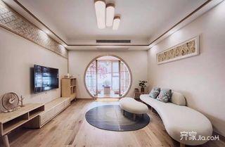 110平米日式风格客厅装修效果图