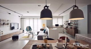 北欧风格二居室装修客厅设计图