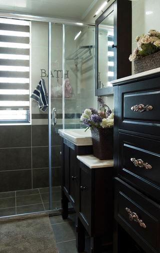 复古美式乡村卫生间干湿隔断装饰设计