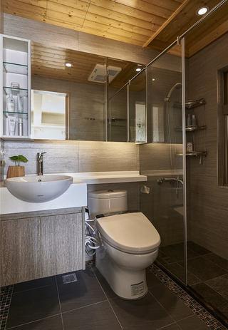 现代日式风格家装整体卫生间实木吊顶设计