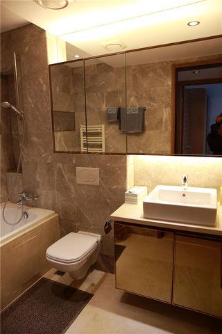大气现代家庭大理石卫生间背景墙设计