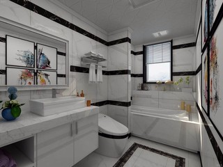 135平现代风格卫生间装修效果图