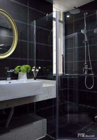 现代风格黑色卫生间装修效果图