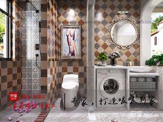 166平美式风格卫生间装修效果图