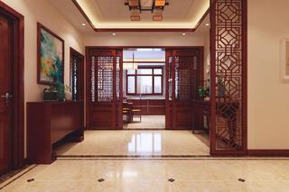 大户型中式装修门厅欣赏图