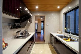 新中式风格样板间装修厨房布局图