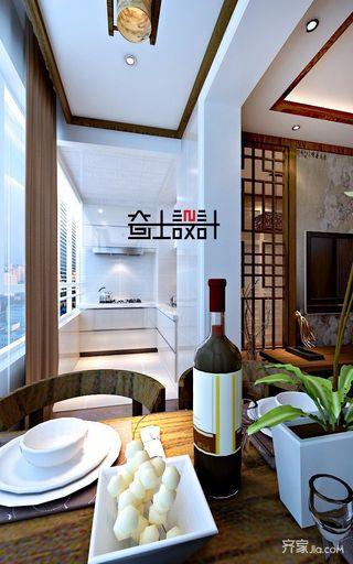 新中式风格二居室厨房装修效果图