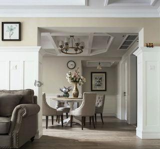 时尚精致美式家庭餐厅吊顶设计
