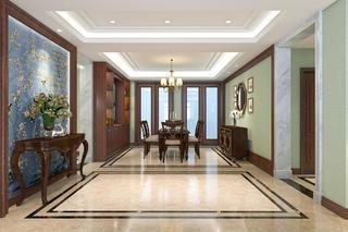 大户型美式风格装修门厅装潢图