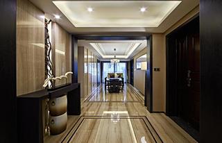 新中式三居装修门厅效果图