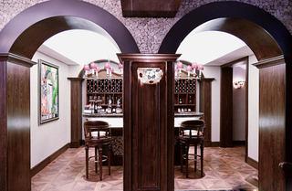 精美新古典法式家居餐厅双拱门隔断设计