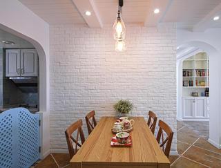 简约地中海家居餐厅文化砖背景墙欣赏图