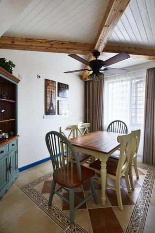 休闲乡村地中海家装餐厅木质吊顶大全