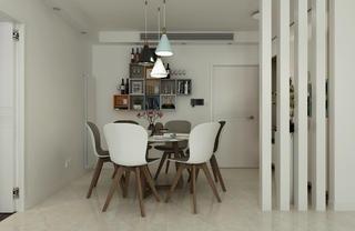 120平现代简约装修餐厅设计图