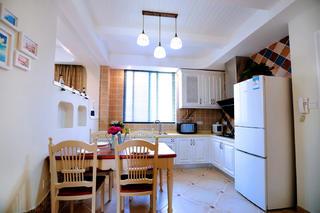 86平地中海风格家厨餐厅效果图