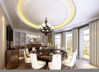 美式风格复式别墅餐厅装修效果图