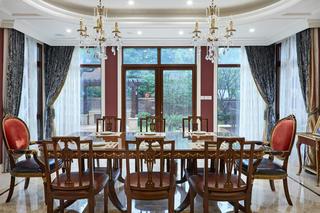 法式别墅装修餐厅设计图
