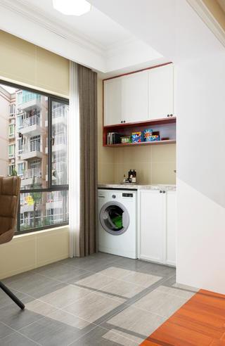 63平二居室混搭装修洗衣柜图片