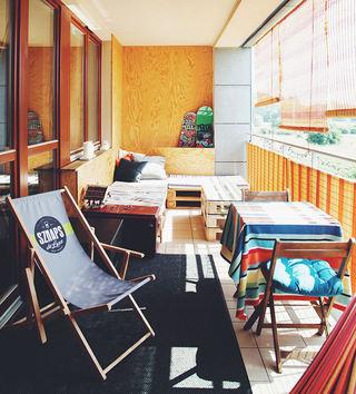 复古北欧家居 休闲生活阳台设计