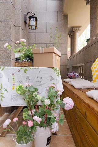 三居室美式风格家阳台休闲小角