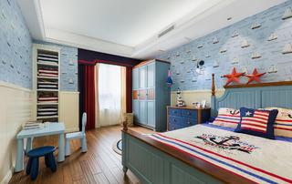三居室简约美式儿童房设计图