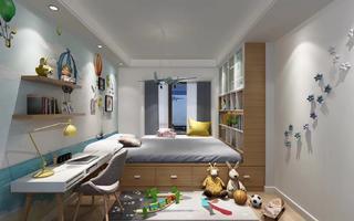 130平现代简约儿童房设计图