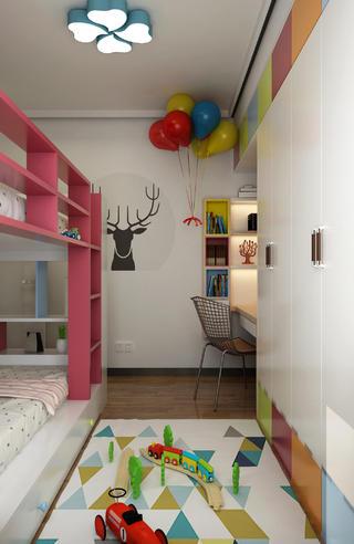 110平现代风格家儿童房装饰图片