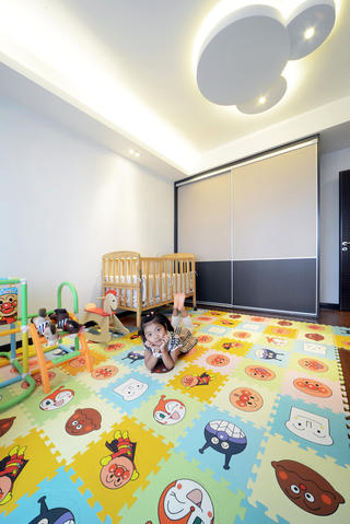 现代简约三居室儿童房设计图