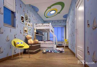 133平现代风格三居儿童房装修效果图