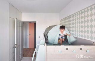 100平三居室简约装修儿童房设计图