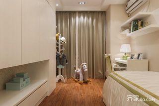 三居室现代中式风格儿童房装修效果图