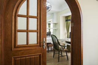 美式田园风格家书房拱门设计