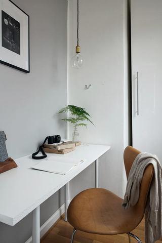 简约清新北欧书房书桌设计装修图