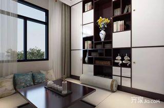 90㎡三居新中式风格书房装修效果图