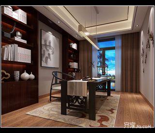 200平中式风格书房装修效果图