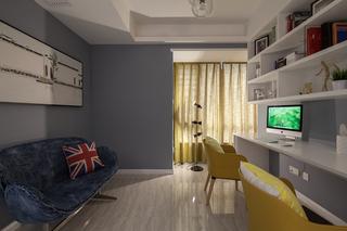145平现代风格三居书房装修效果图