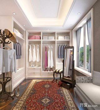 新中式风格复式三居衣帽间装修效果图