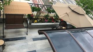 中式三居室装修露台欣赏图