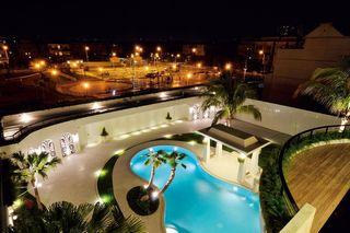 豪华现代风别墅庭院带泳池俯瞰图大全
