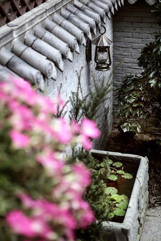 别墅混搭装修花园一角