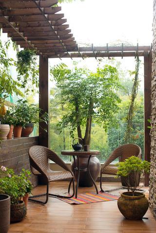 美式别墅装修花园图片