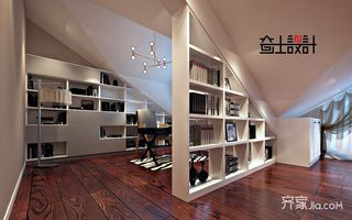 260平美式风格别墅阁楼装修效果图