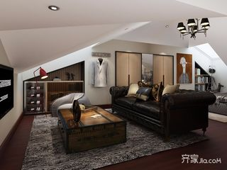 现代风格四房装修阁楼设计效果图