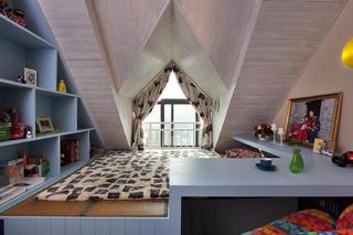 阁楼小美式之家儿童房设计图
