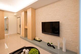 简约家居电视背景墙文化砖装饰效果图
