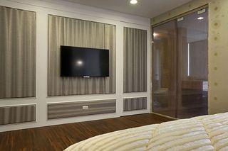 时尚现代风卧室 电视背景墙设计