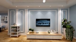简美风格电视背景墙装修效果图