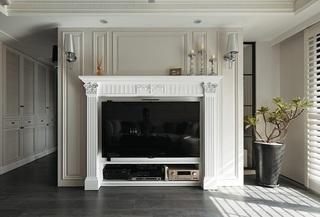 家居室内美式电视背景墙效果图