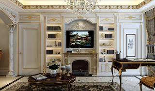 法式宫廷别墅装修电视背景墙图片