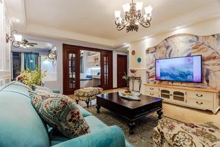 三居室美式之家电视背景墙设计